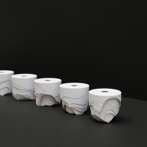 Rolls of Paper Sculpted Into Crisp, Lovely, Abstract Forms